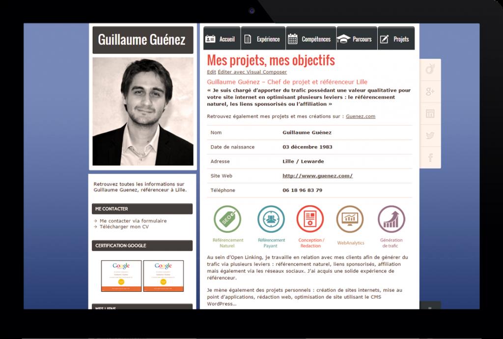 Mon CV – Chef de projet en création de trafic web