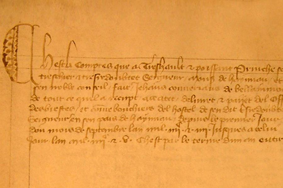 Comptes d'hôtels de Guillaume IV, comte de Hainaut